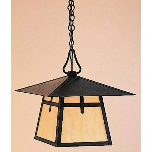 Arroyo Craftsman Carmel Small Tan Dart Outdoor Pendant