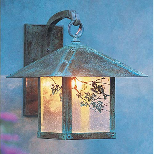 Arroyo Craftsman Evergreen Large Clear Seedy Sycamore Outdoor Wall Mount