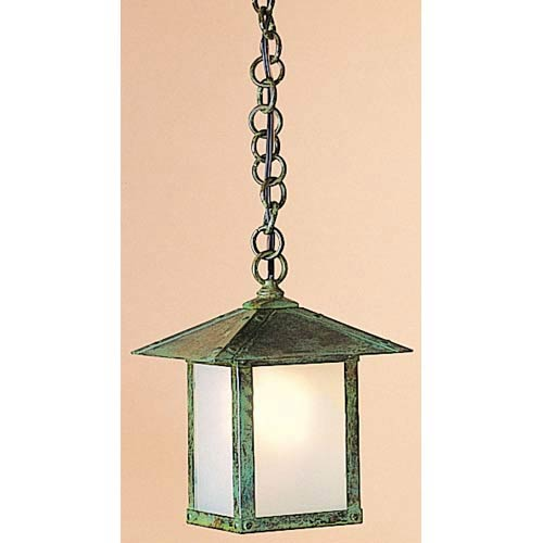 Arroyo Craftsman Evergreen Medium Frosted Outdoor Pendant