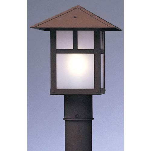 Arroyo Craftsman Evergreen Large Frosted T-Bar Outdoor Post Mount