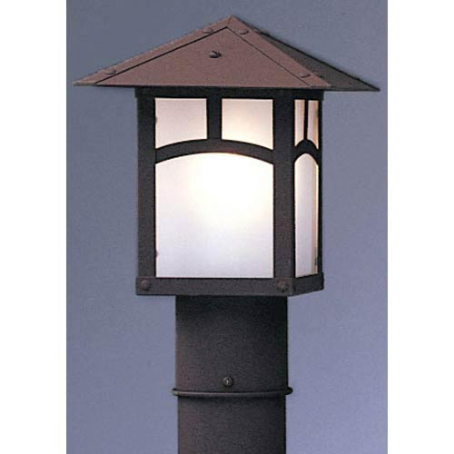Arroyo Craftsman Evergreen Small Frosted Classic Arch Outdoor Post Mount
