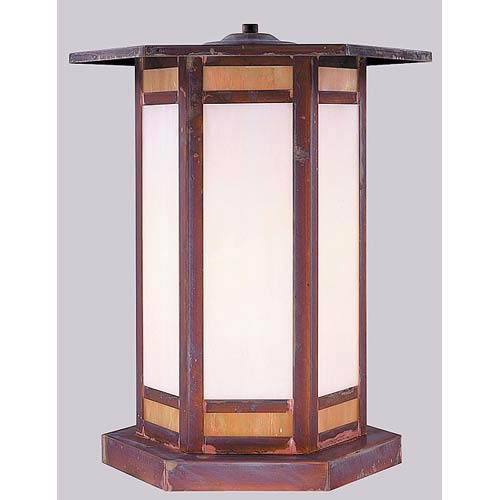 Arroyo Craftsman Etoile Small Raw Copper Outdoor Pier Mount