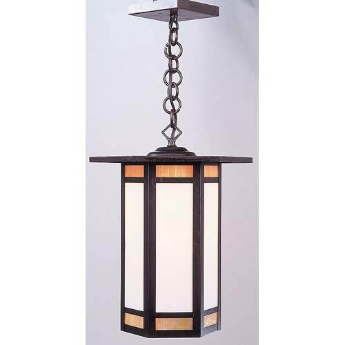 Arroyo Craftsman Etoile Medium Bronze Lantern Pendant