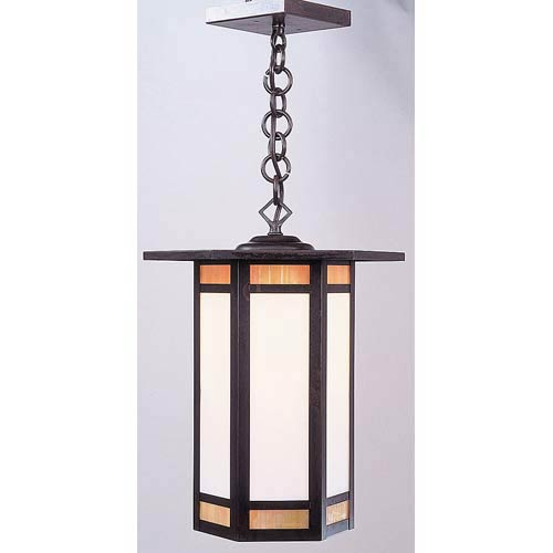 Arroyo Craftsman Etoile Large Bronze Lantern Pendant