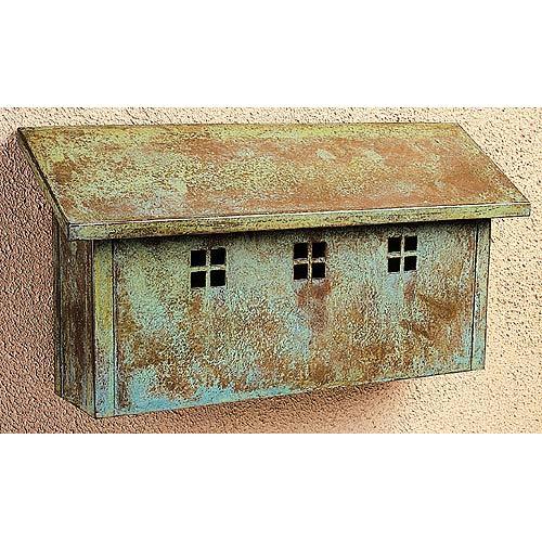 Glasgow Verdigris Patina Mail Box - Horizontal