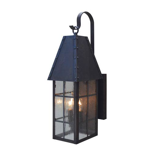 Hampton Mission Brown Two-Light Outdoor Wall Mount