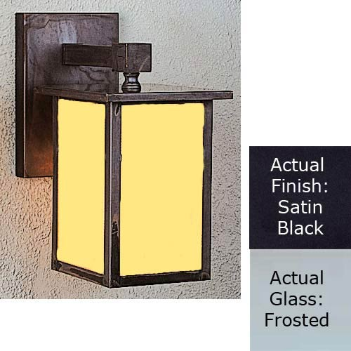 Huntington Satin Black Frosted Outdoor Wall Light