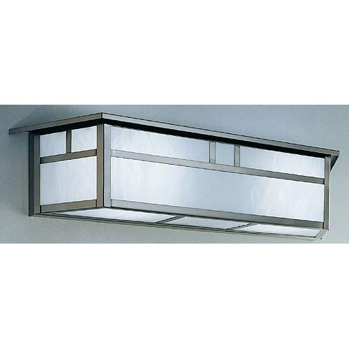 Huntington White Opalescent T-Bar Long Sconce