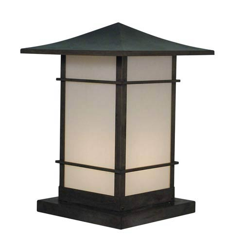 Katsura Large White Opalescent Toshi Outdoor Pier Mount