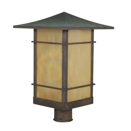 Arroyo Craftsman Katsura Large Gold White Iridescent Toshi Outdoor Post Mount