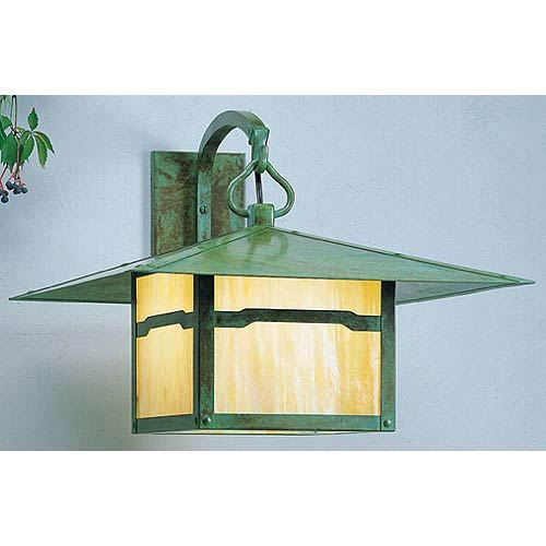 Monterey Medium Gold White Iridescent Cloud Lift Outdoor Wall Mount