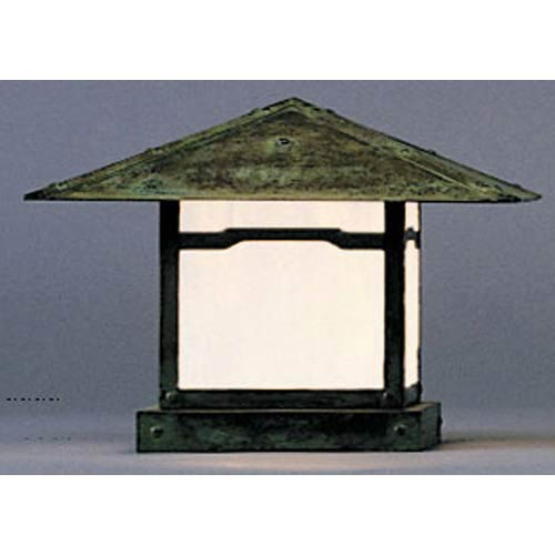 Arroyo Craftsman Monterey Small White Opalescent Cloud Lift Outdoor Pier Mount