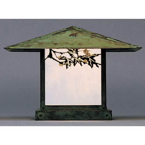 Arroyo Craftsman Monterey Large White Opalescent Sycamore Outdoor Post Mount