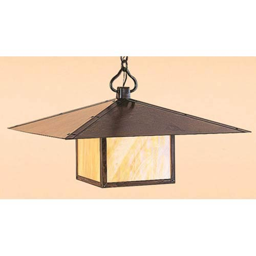 Arroyo Craftsman Monterey Extra Large Gold White Iridescent Outdoor Pendant
