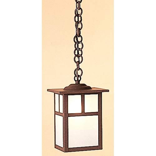 Arroyo Craftsman Mission Small White Opalescent T-Bar Outdoor Pendant