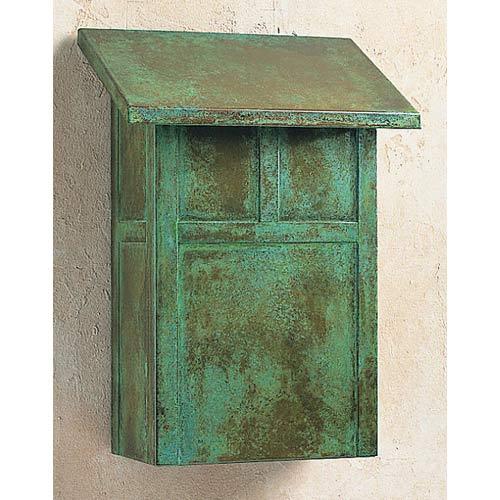 Mission Verdigris Patina Mail Box - Vertical