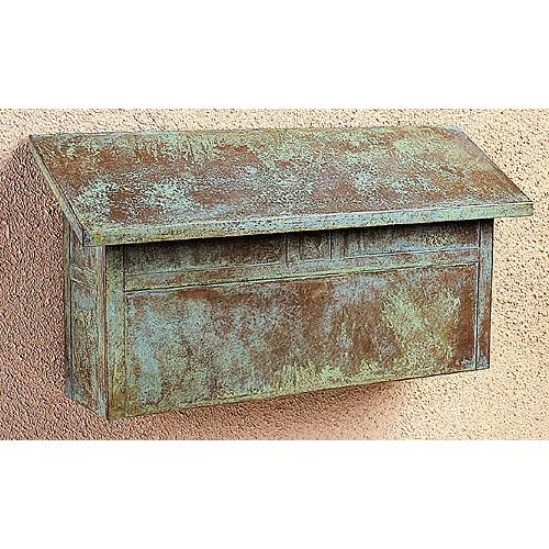 Arroyo Craftsman Mission Verdigris Patina Mail Box - Horizontal