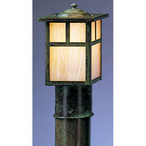 Arroyo Craftsman Mission Small Gold White Iridescent T-Bar Outdoor Post Mount