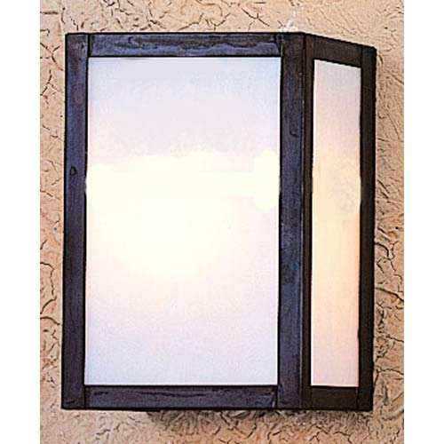Arroyo Craftsman Mission Large White Opalescent Flush Sconce