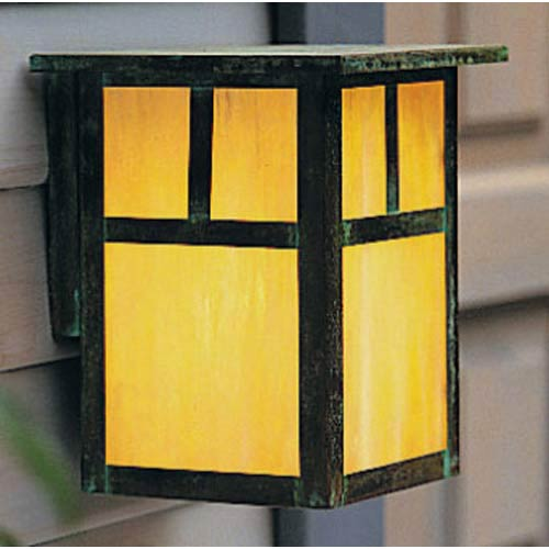 Arroyo Craftsman Mission Large Gold White Iridescent T-Bar Outdoor Wall Mount