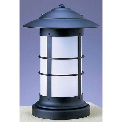 Newport Small White Opalescent Long Outdoor Pier Mount