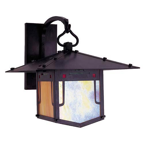 Arroyo Craftsman Pagoda Small Bronze Outdoor Sconce