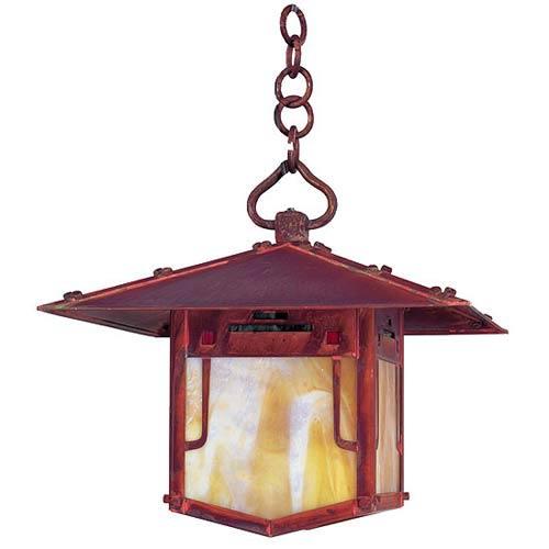 Pagoda Medium Raw Copper Outdoor Pendant