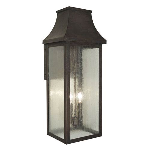 Providence Mission Brown Two-Light Outdoor Wall Mount