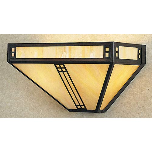 Prairie Gold White Iridescent Flush Sconce