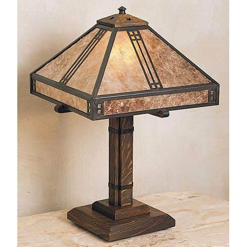 Arroyo Craftsman Prairie Small Almond Mica Table Lamp
