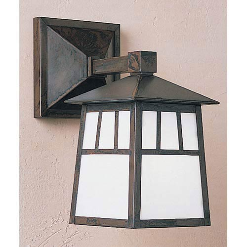 Raymond Large White Opalescent Outdoor Wall Mount