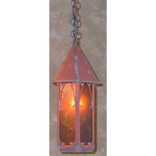 Arroyo Craftsman Saint George Small Amber Mica Lantern Pendant