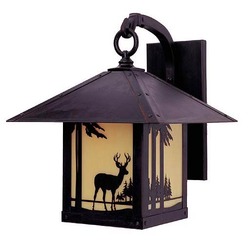 Arroyo Craftsman Timber Ridge Tan Deer Outdoor Sconce