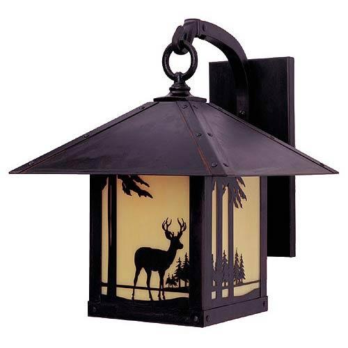 Arroyo Craftsman Timber Ridge Tan Deer Outdoor Sconce