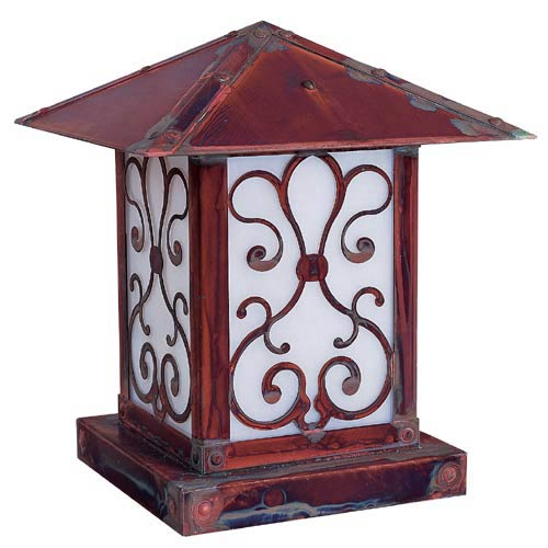 Arroyo Craftsman Timber Ridge White Opalescent Ashbury Outdoor Post Mount