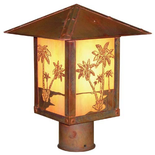 Arroyo Craftsman Timber Ridge Tan Palm Tree Outdoor Post Mount