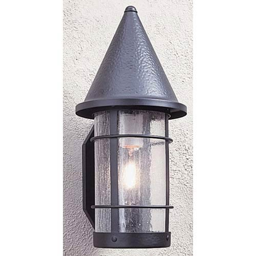 Arroyo Craftsman Valencia Medium Clear Seedy Outdoor Sconce