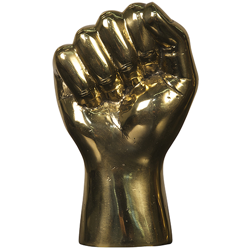 Brass The Solidarity Fist Figurine