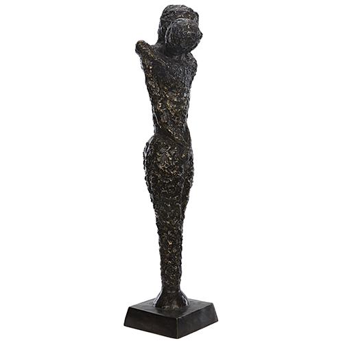Noir Sabana Brass Statue, Antique Finish As Shown