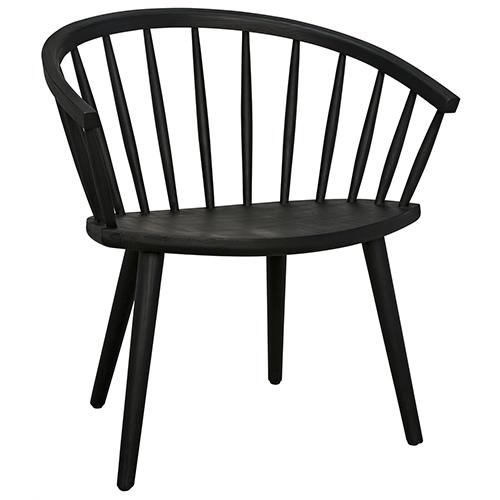 Pauline Charcoal Black Chair