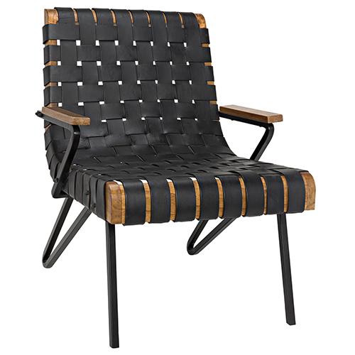 Laramy Black Leather Chair