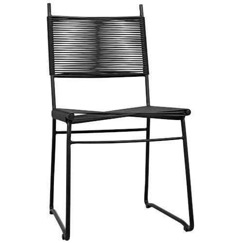 Pango Black Vinyl Cord 36-Inch Dining Chair
