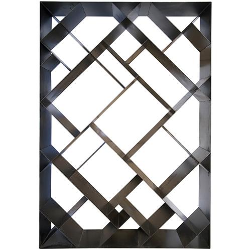 wholesale dealer 83302 9bead Noir Small Metal Diagonal Bookcase