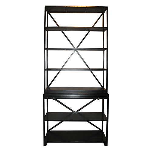 Noir Sutton Hand Rubbed Black Bookcase