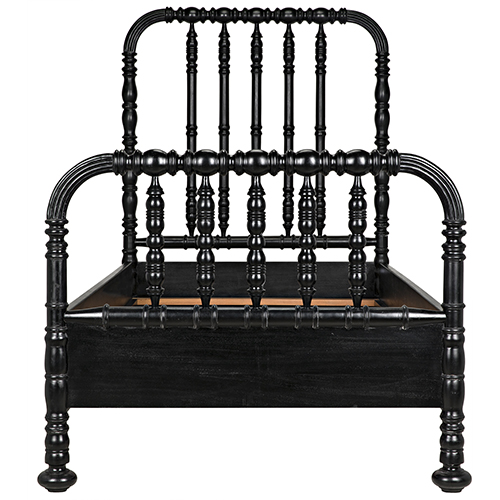 Bachelor Hand Rubbed Black 45-Inch Twin Bed