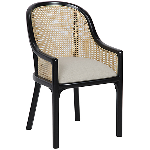 Gaston Hand Rubbed Black Chair
