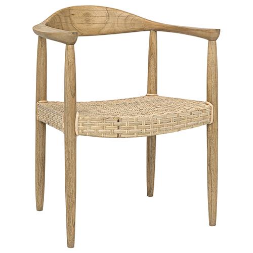Noir Kiefer Mindi Wood Chair