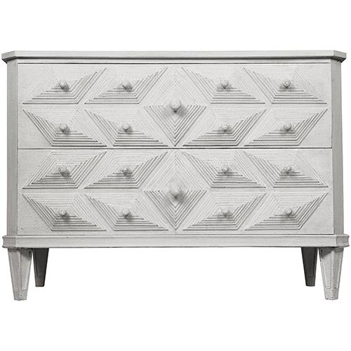 Noir Giza White Weathered Dresser