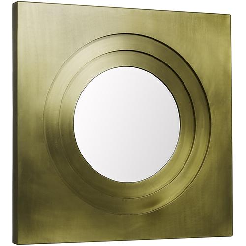 Noir Shane Antique Brass Mirror