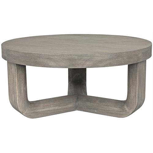 Joel Distressed Gray Coffee Table